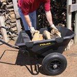 Polar-Trailer-8449-Heavy-Duty-Cub-Cart-50-x-28-x-29-Inch-400-Lbs-Load-Capacity-7-Cubic-Feet-Tub-Rugged-Wide-Track-Tires-Utility-and-Hauling-Cart-Black-0-2
