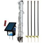 Premier-42-ElectroStop-Plus-Starter-Kit-Includes-White-ElectroStop-Plus-Electric-Net-42-H-x-100L-with-Double-Spiked-Posts-FiberTuff-Support-Posts-Solar-Fence-Energizer-Wireless-Fence-Tester-0