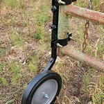 RanchEx-102557-Tall-Gate-Wheel-for-High-Ground-Tube-Gates-Hardware-Included-0-0
