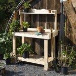 Rustic-Natural-Cedar-Furniture-White-Cedar-Potting-Bench-0