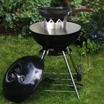 Skyflame-Stainless-Steel-Gourmet-BBQ-System-Wok-n-Complete-Pack-for-Weber-22-inches-Kettle-Grills-for-Garden-and-Kitchen-0-1