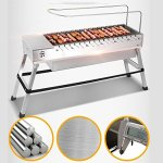 Spark4grill-Automatic-Rotating-Charcoal-BBQ-Grill-Barbecue-Stainless-Steelcomplete-set-0-1