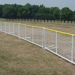 Sportpanel-Fencing-in-White-w-Yellow-Top-Safety-Rail-0-0