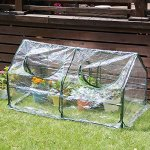 Sungmor-2-Window-Greenhouse-Flower-Plant-Grow-House-w-Strong-Antirust-Steel-Frame-and-Transparent-PVC-CoverWorth-Garden-Hothouse-0