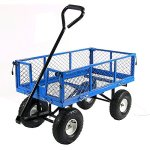 Sunnydaze-Utility-Steel-Garden-Cart-Outdoor-Lawn-Wagon-with-Removable-Sides-Heavy-Duty-400-Pound-Capacity-Blue-0
