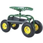 Uenjoy-Garden-Wagon-Multi-Species-Garden-Utility-Trailer-Yard-Dump-Lawn-Cart-0-0