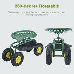 Uenjoy-Garden-Wagon-Multi-Species-Garden-Utility-Trailer-Yard-Dump-Lawn-Cart-0-2