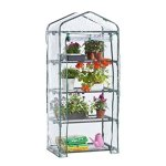 VonHaus-VD-2664GT-63-x-28-x-20-inches-4-Tier-Portable-Mini-Compact-Greenhouse-with-Clear-PVC-Cover-Unit-6-Translucent-0
