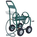 Wakrays-Garden-Water-Hose-Reel-Cart-300FT-Outdoor-Heavy-Duty-Yard-Planting-WBasket-New-0