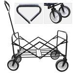 Yaheetech-Multicolor-Collapsible-Folding-Utility-Wagon-Garden-Cart-Shopping-Red-0-2