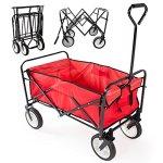 Yaheetech-Multicolor-Collapsible-Folding-Utility-Wagon-Garden-Cart-Shopping-Red-0
