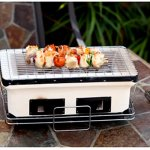 Yakitori-Grill-Charcoal-Backyard-Tabletop-Portable-Grill-Rectangle-White-Charcoal-Grill-with-Handles-E-Book-0-1