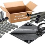 12×20-Heavy-Duty-1-38-Carport-Canopy-Kit-Silver-Tarp-Foot-Pads-Poles-for-Legs-Roof-Not-Included-0