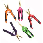 5-Pack-5-Different-Colors-Red-Pink-Purple-Green-and-Orange-TrimSmart-TS001-Precision-Pruner-Hydroponic-Garden-Precision-Titanium-Blade-Curved-or-Straight-Blade-Snip-Scissor-Trimmer-0