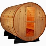 6-Foot-Canadian-Outdoor-PINE-WOOD-Barrel-Sauna-WET-DRY-SPA-4-Person-Size-0