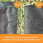 Agfabric-Landscape-Pro-5ounce-Needle-Punched-compound-weed-barrier-fabricDurable-Heavy-Duty-Weed-Block-Gardening-Mat-Superior-Weed-Control-0-0