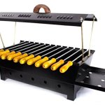 Barbeque-Charcoal-Grill-12-Hut-Shaped-Barbeque-Black-Iron-Barbeque-Portable-BBQ-Grill-Travel-Essentials-0