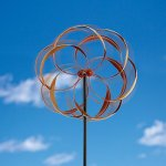 Bits-and-Pieces-Flower-Wind-Spinner-Magnificent-65-Inch-Weather-Resistant-Metal-Beautiful-Outdoor-Lawn-and-Garden-Dcor-0-0