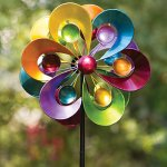Bits-and-Pieces-Prismatic-Posy-Wind-Spinner-Decorative-Kinetic-Wind-Mill-Unique-Outdoor-Lawn-and-Garden-Dcor-Lawn-Ornament-0-0