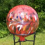 Glass-Gazing-Ball-Circus-Red-Iridized-12-Inch-by-Iron-Art-Glass-Designs-0-0