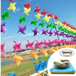 HJZJ-Farm-Lawn-Rainbow-spinner-windmillsGarden-decorated-Spinner-multi-color-equipped-with-100-feet-wire-rope-0