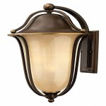 Hinkley-2639OB-LED-Bolla-26-30W-2-LED-Outdoor-Wall-Lantern-Olde-Bronze-Finish-with-Light-Amber-Seedy-Glass-0