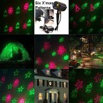Indoor-or-Outdoor-Waterproof-Laser-Garden-Tree-Lawn-Spot-Light-Projector-Show-Christmas-Theme-Xmas-Tree-Snowman-Bell-Snowflake-Santa-Clause-with-Remote-Control-0