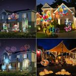 LED-Projector-Light-OKPOW-Waterproof-Landscape-Snowflake-Spotlight-with-16-Interchangeable-Slides-for-Christmas-Halloween-Birthday-Wedding-Party-Outdoor-Indoor-Home-Decor-0