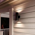 Luxury-Contemporary-Outdoor-Wall-Light-Medium-Size-14H-x-5W-with-Art-Deco-Style-Elements-Olde-Bronze-Finish-UHP1060-from-The-Hollywood-Collection-by-Urban-Ambiance-0-0
