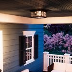 Luxury-Craftsman-Outdoor-Ceiling-Light-Small-Size-575H-x-12W-with-Tudor-Style-Elements-Highly-Detailed-Design-High-End-Black-Silk-Finish-and-Water-Glass-UQL1248-by-Urban-Ambiance-0-0
