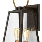 Luxury-Vintage-Outdoor-Wall-Light-Large-Size-23625H-x-1125W-with-Farmhouse-Style-Elements-Olde-Bronze-Finish-and-Clear-Shade-UHP1000-from-The-Vicenza-Collection-by-Urban-Ambiance-0
