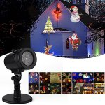MIFXIN-14-Slides-Christmas-Projection-Light-Rotating-Multicolor-Landscape-Snowflake-Waterproof-Projector-Indoor-Outdoor-Lighting-GOBO-Spotlight-Lawn-Light-Garden-Courtyard-Party-Christmas-Holiday-0