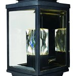 Maxim-53526CLGBK-Mandeville-LED-2-Light-Outdoor-Wall-Lantern-Galaxy-Black-Finish-Clear-Glass-PCB-LED-Bulb-60W-Max-Dry-Safety-Rating-Standard-Dimmable-Shade-Material-2016-Rated-Lumens-0