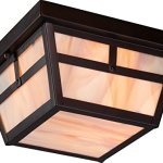 Nuvo-Lighting-Tanner-Large-One-Light-Wall-Lantern-100-watt-A19-Outdoor-Porch-and-Patio-Lighting-with-Honey-Stained-Glass-0