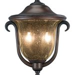 Outdoor-Wall-Sconces-2-Light-with-Burnished-Bronze-Finish-Candelabra-Base-Bulb-13-inch-80-Watts-0