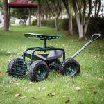 Peach-Tree-Garden-Cart-Rolling-Work-Seat-with-Tool-Tray-Heavy-Duty-Gardening-Planting-New-0-0