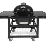 Primo-Oval-LG-300-Ceramic-Smoker-Grill-On-Cart-with-1-Piece-Island-Top-0
