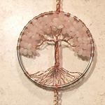 Rose-Quartz-Crystal-Tree-of-Life-Sun-Catcher-with-Crystal-Ball-PrismHandmade-Crystal-SuncatcherCrystal-Window-OrnamentFeng-Shui-Ornament-0-1