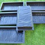 Sold-set-6-PIECE-DESIGN-CONCRETE-MOLDS-for-PAVING-BRICK-SLAB-patio-garden-path-MOULDS23-0-0