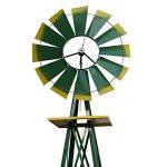 Super-Deal-8-Iron-Windmill-Ornamental-Garden-Weather-Resistant-Weather-Vane-0-0