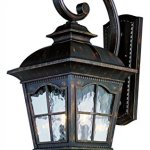 Two-Light-Black-Clear-Water-Glass-Wall-Lantern-0