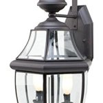 Two-Light-Weathered-Bronze-Clear-Beveled-Curved-Glass-Wall-Lantern-0-0