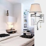 Wall-Lamp-1-Light-with-LED-Reding-light-Stainless-And-Crystal-0-4