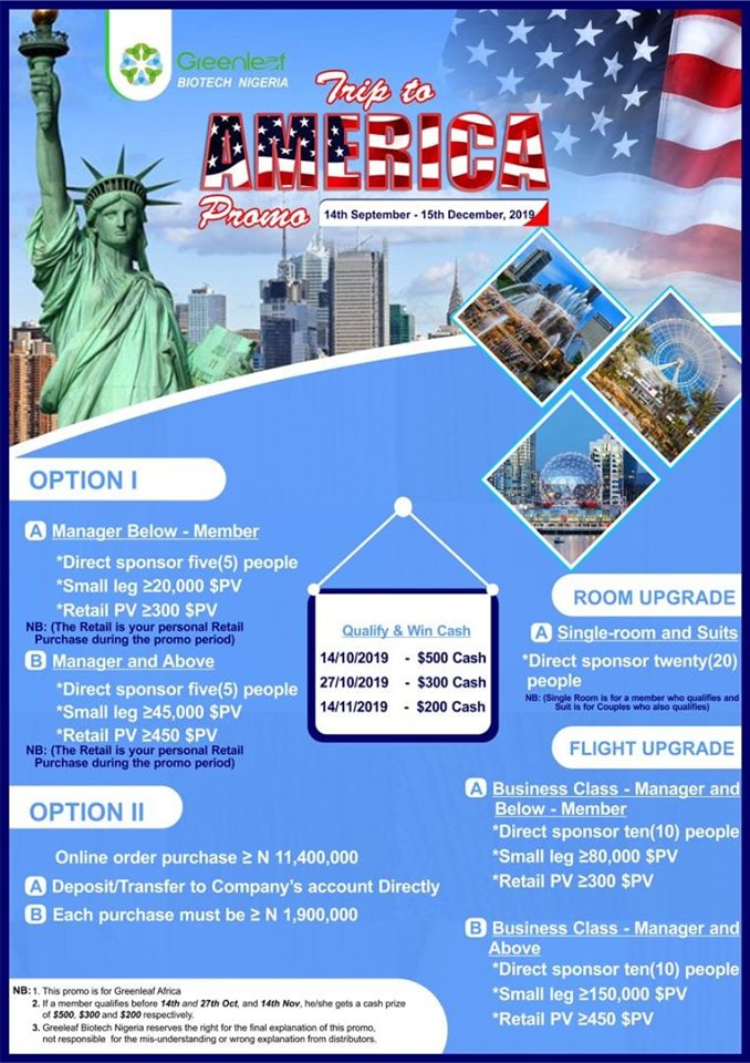 Greenleaf USA trip promo 2019