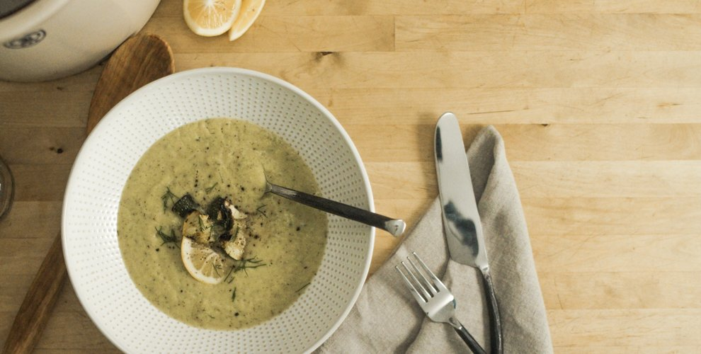 Summer Squash Soup with Dill and Lemon