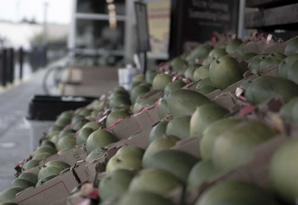 Whole Foods Acquisition, Mangos not local