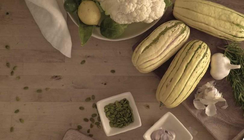 delicata, recipe, squash, cauliflower, salad