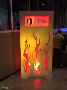 Custom backdrop for Microsoft at Chihuly Garden and Glass by GreenLight Events