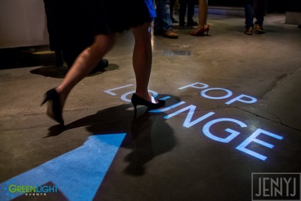 Custom gobo monogram at the EMP by GreenLight Events