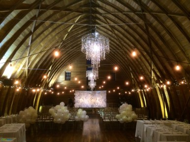 String lighting at Russell's Loft by GreenLight Events